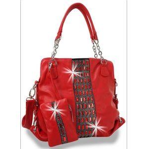 Gorgeous 2 Piece Bling Handbag Set